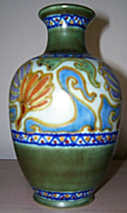 Hand-painted vase from early 1920s Holland